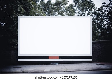 Large blank billboard