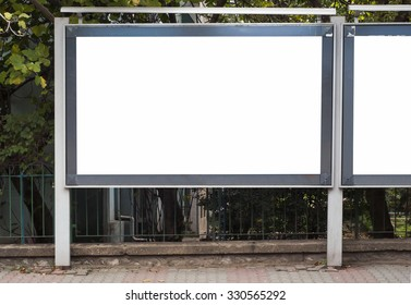 Large blank billboard for advertisement