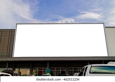 Large blank billboards on shopping mall for advertising,marketing or concept.