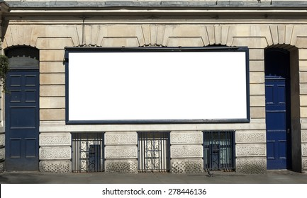 Large blank urban billboard with copy space
