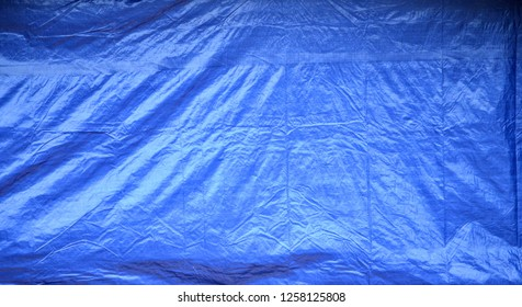 Large Blue Plastic Tarp Background