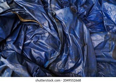 Large Blue Plastic Tarp Background With Wrinkles  Shadows,Blue tarps tarpaulin covering