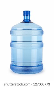 A large bottle of pure water on a white background