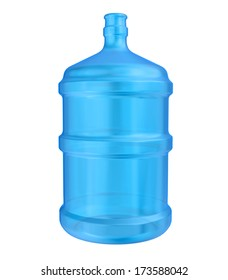 large bottle of water. isolated on white background