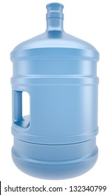 A large bottle of water. Isolated render on a white background