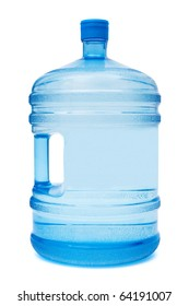 large bottle of water on a white background