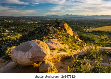 Large boulders and views at Mount Rubidoux Park, in Riverside, California.