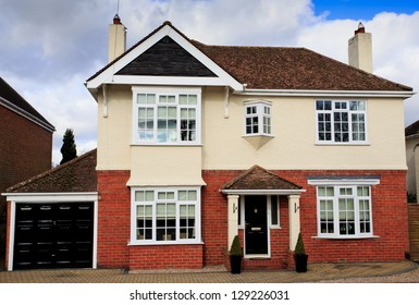 Large brick and rendered detached house in Swindon, UK