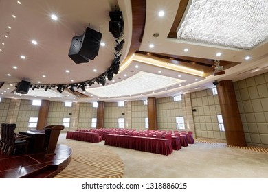 Large and bright conference room interior