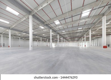large, bright and empty warehouse