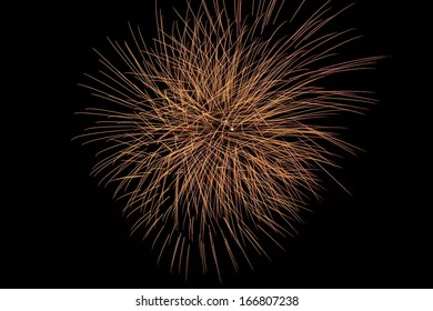 A large Brightly colorful Fireworks Display event