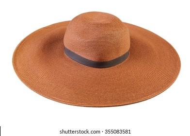 Large brown summer straw hat 3eb0777295ec