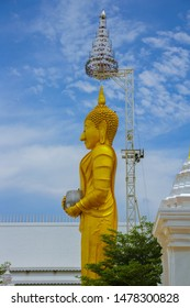 Large Buddha image sacred things that are linked to the beliefs and ways of life of Buddhists  Thailand.