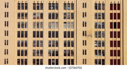 Large Building Yellow Wall with Windows Square Elevation Texture