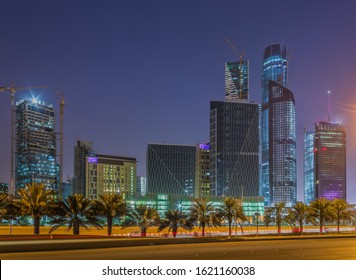 Large buildings equipped with the latest technology, King Abdullah Financial District, in the capital, Riyadh, Saudi Arabia