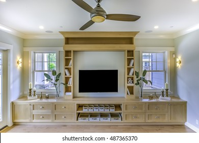 Large Built in bookcase in the family room