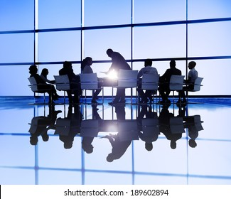Large business meeting
