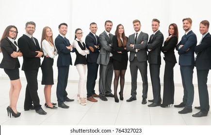 large business team isolated on white background.