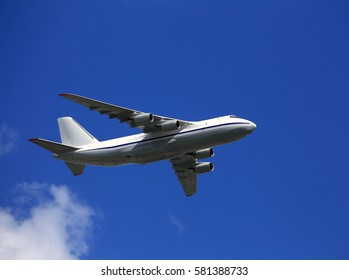 Large  cargo aircraft  gaining altitude after take-off