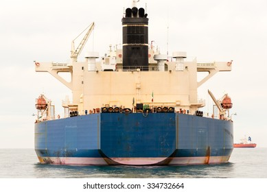 large cargo ship on the ocean