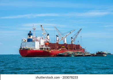 large cargo ship over the sea, thailand