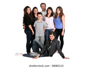 large caring family of seven