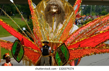 Large cat King of the Band float at the Junior Caribana Parade in Toronto, Ontario, Canada - July 19, 2008