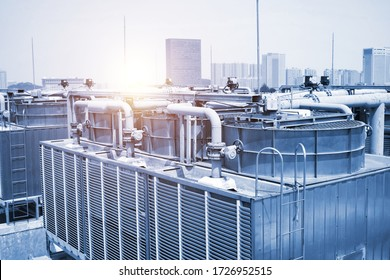 large central air conditioning system cooling fan system pipeline