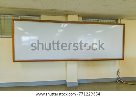 Large Classroom White Board Wooden Frame Stock Photo (Edit Now ...