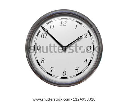 Large Clock Face Hands That Mark Stock Photo Edit Now 1124933018