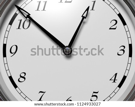 Large Clock Face Hands That Mark Stock Photo Edit Now 1124933027
