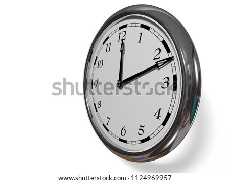 Large Clock Face Hands That Mark Stock Photo Edit Now 1124969957