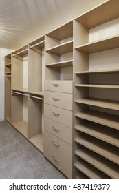 Large Closet with Built In Shelving