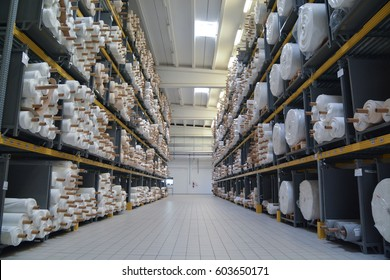 Large cloth warehouse