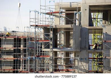 Large construction site (building construction)