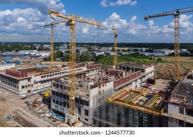 Large construction site commercial construction