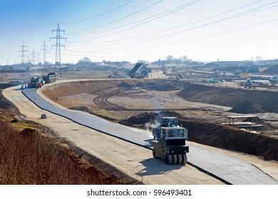 Large construction site, Stuttgart 21 projekt, Wendlingen am Neckar, Germany