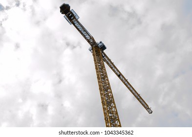 large crane from below