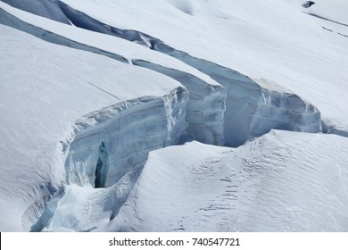 Large crevasse in the Aletsch glacier.