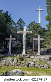 large cross Valley of the Fallen, Valle de los Caidos, Madrid, spain