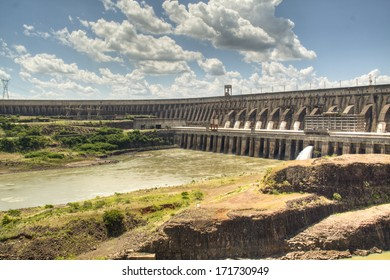 The large dam of Itaipu in Brazil