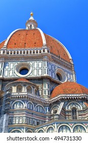 Large dome above the Cathedral of Santa Maria del Fiore, Florence, Tuscany, Italy