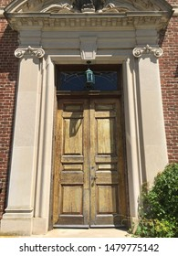 The large door at the Mansion at Caumsett State Park in Lloyd Neck, Long Island, NY.