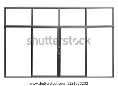 a4152af0852d Large Double Open Glass Door Isolated Stock Photo (Edit Now ...