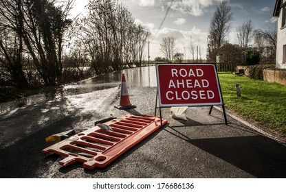 large downpour of rain has flooded the roads in essex england