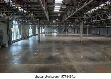 Large empty warehouse