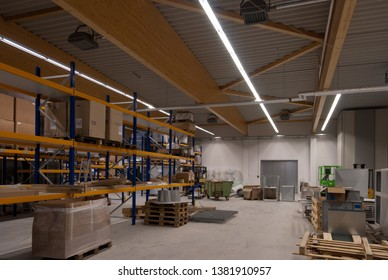 a large factory building is converted into a warehouse