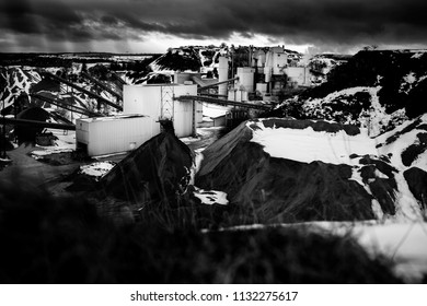 Large factory, in a quarry