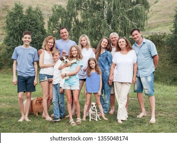 Large family outdoors