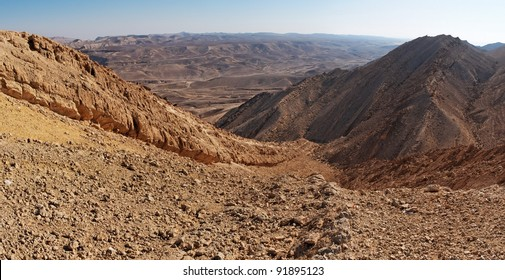 The Large Fin ridge in the Large Crater (Makhtesh Gadol) in Israel's Negev desert